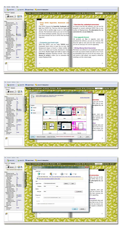 DjVu to Flash Brochure full screenshot