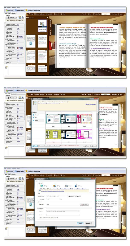 PCL to Flash Brochure full screenshot