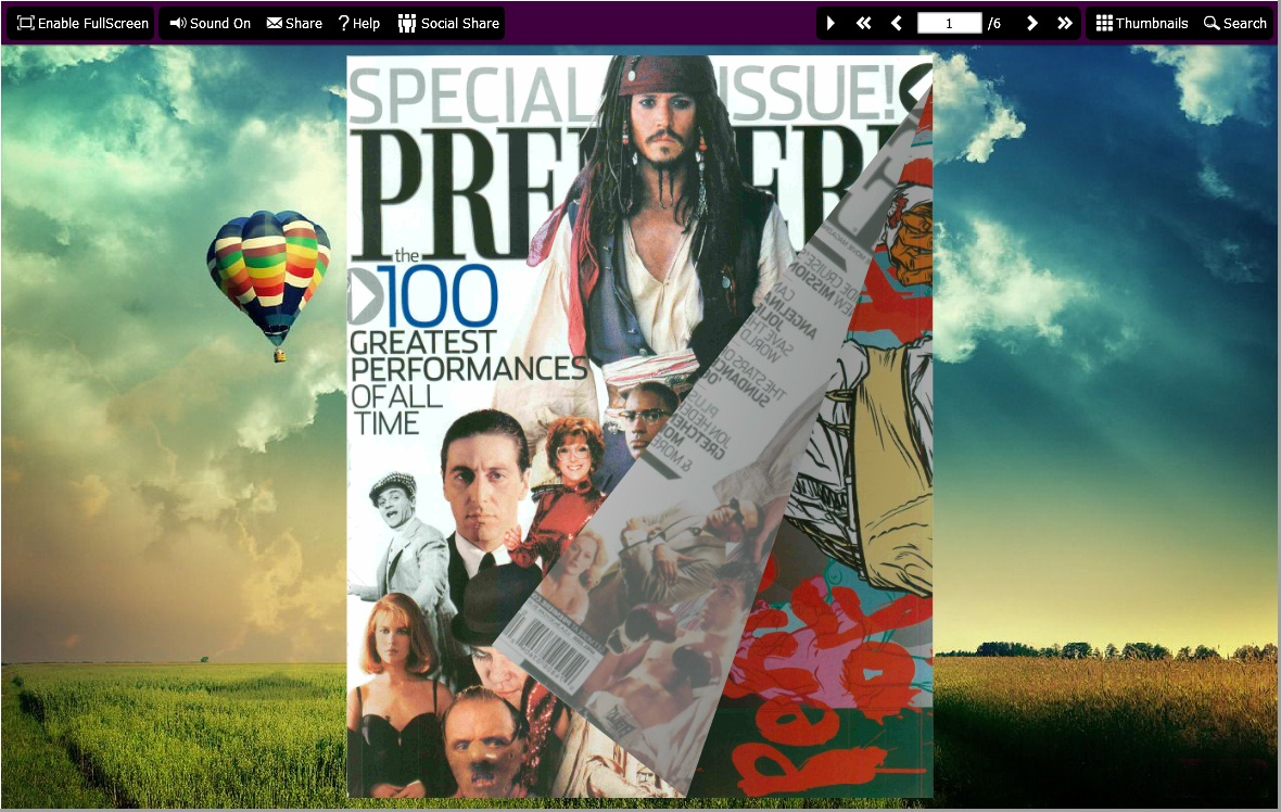 PDF to Flash Brochure (Pro) SingleSlide Theme: Fence screenshot
