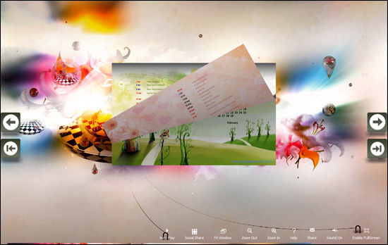 PDF to Flash Brochure (Pro) Calendar: Impact screenshot