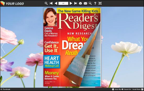 PDF to Flash Brochure (Pro) Neat Theme: Intangible screenshot