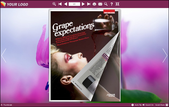 Windows 7 PDF to Flash Brochure (Pro) Neat Theme: Purple 1.0 full