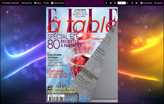 PDF to Flash Brochure (Pro) SingleSlide Theme: Ribbon screenshot