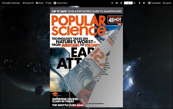 PDF to Flash Brochure (Pro) SingleSlide Theme: Universe screenshot